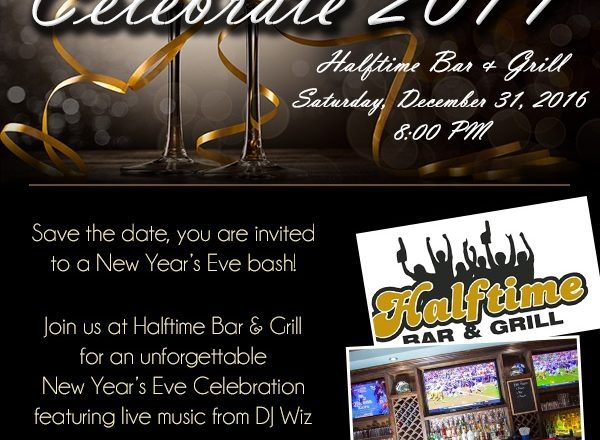 Celebrate 2017 at Halftime Bar & Grill